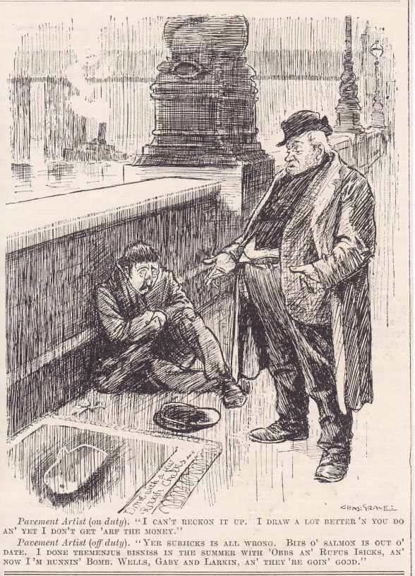 Punch cartoon 1913 two screevers