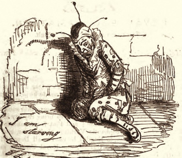 """I am starving"" PUNCH MAGAZINE Illustration 1844."