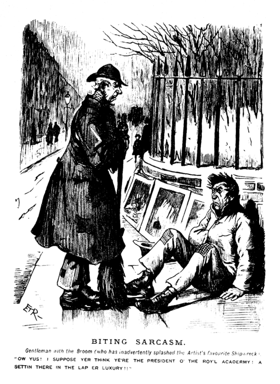 Punch cartoon circ. 1895