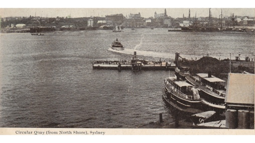 Milson's Point Wharf. circ. 1908