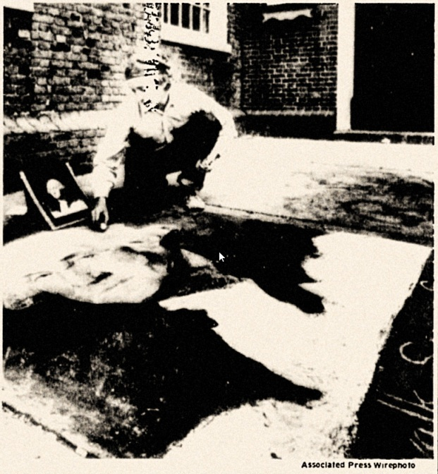 Sidewalk Art by Boston's SIDEWALK SAM 1973