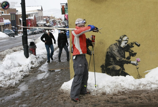 BANKSY at The Sundance Film Festival 2010 Photo by: REUTERS/Robert Galbraith