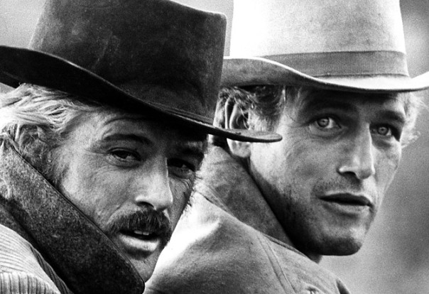 "ROBERT REDFORD & Paul Newman in ""Butch Cassidy & the Sundance Kid"" (1969)"