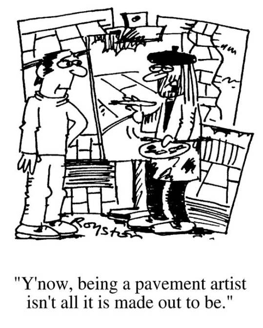 When is a Pavement artist, not a pavement artist?
