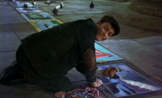DICK VAN DYKE as Bert the pavement artist