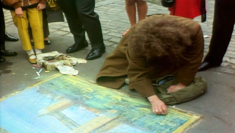RON MOODY is Mathew Quick, the pavement artist: 1972