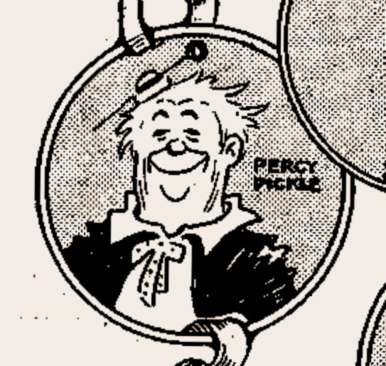 Percy Pickle.....The world's first internationaly famous pavement artist! (1910)