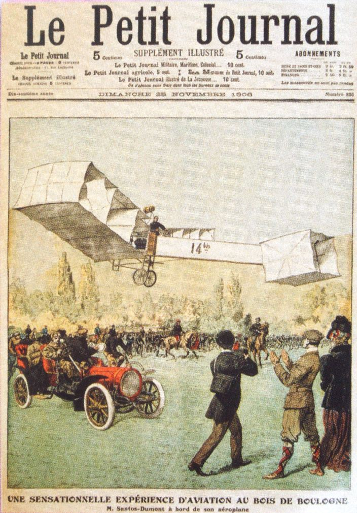 Flight of Santos Dumont, Le Petit Journal, 25 November 1906