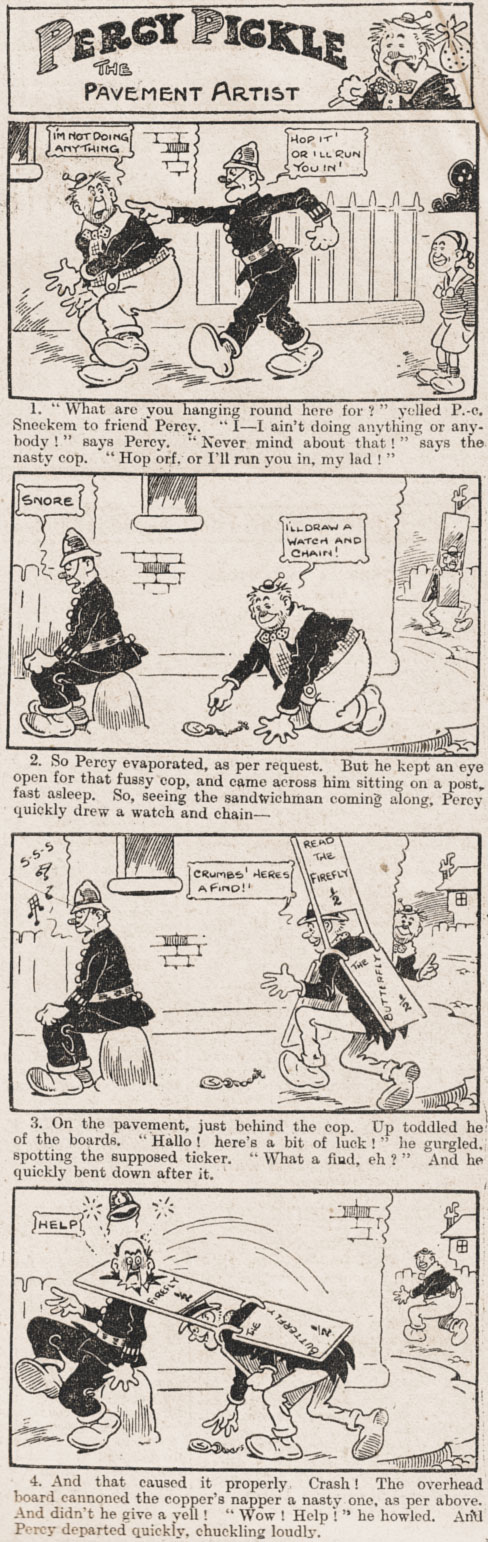 PERCY PICKLE adventure: published in Merry & Bright, Sept. 12th 1914 (Vol 3-No-204)  Click on image to enlarge!