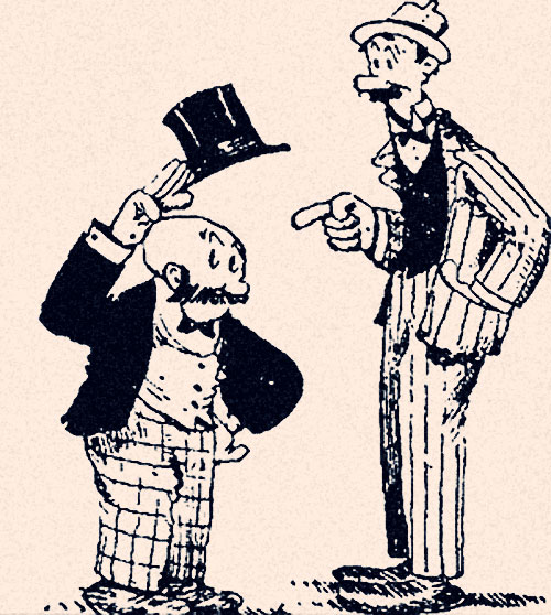 Mutt and Jeff created by Bud Fisher 1907