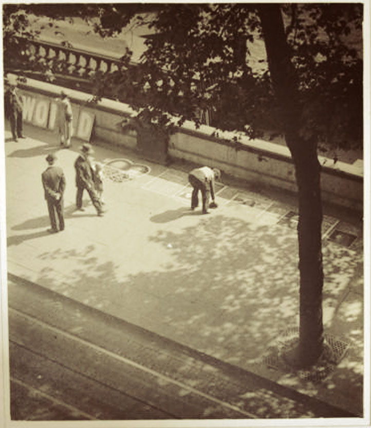 A Pavement Artist on the Thames Embankment, London (Cir.1933)