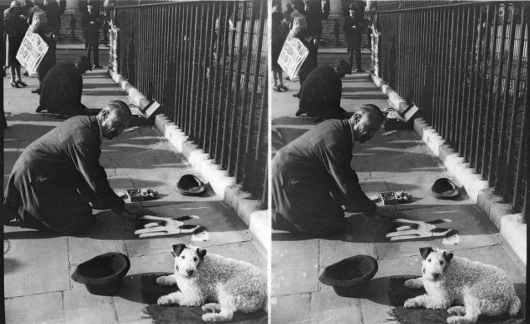 Original 'side by side' stereoscopic images 1930