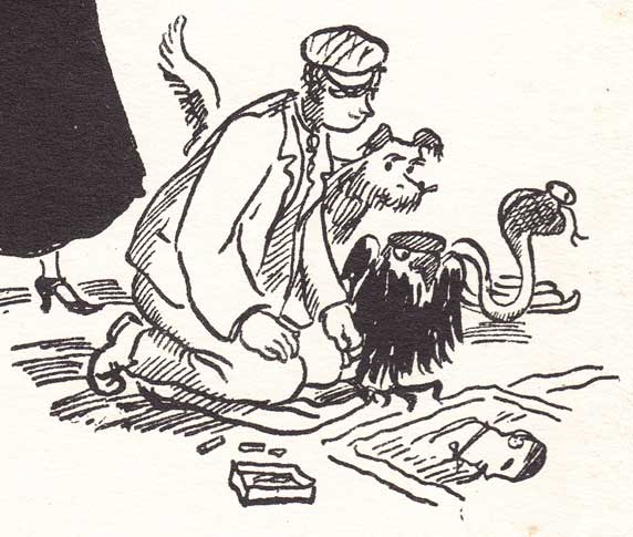 Bert the pavement artist: from the first edition end-pieces: illustration by Mary Shepard: 1934