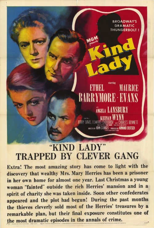 KIND LADY: Original movie poster from the 1951 re-make