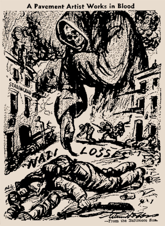 Illustration for the Baltimore Sun - 30th september 1942