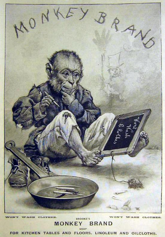 MONKEY PAVEMENT ARTIST: Monkey Brand Soap Advert 1899