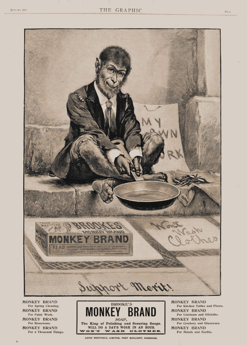 MONKEY PAVEMENT ARTIST: Monkey Brand Soap Advert1901