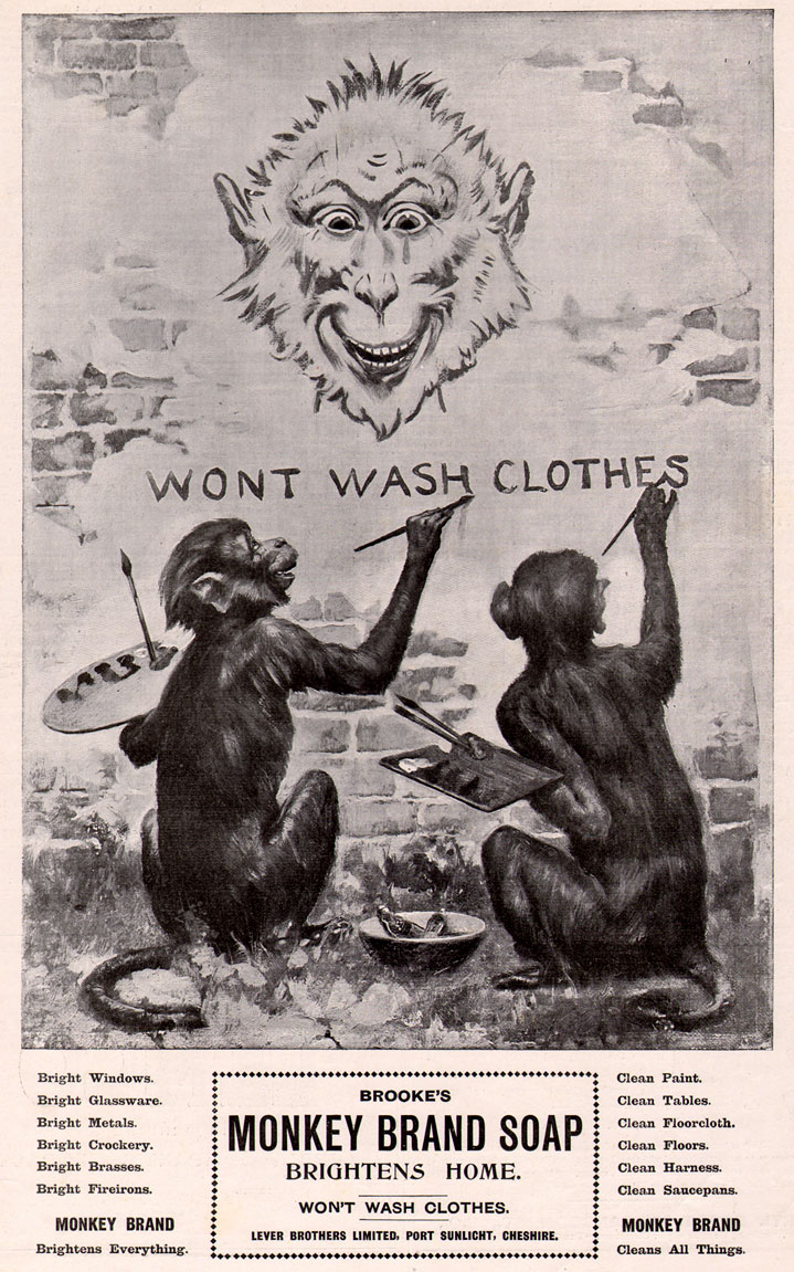 MONKEY STREET ARTISTS: Brookes Monkey Brand advertisment 1899