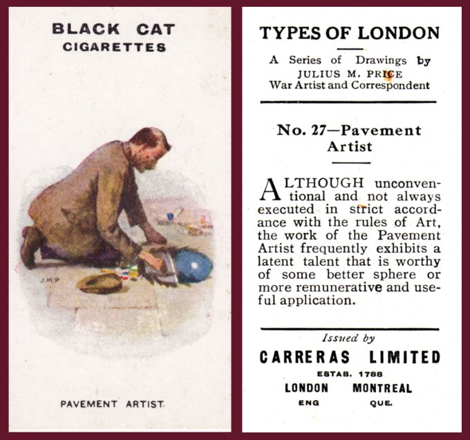 TYPES OF LONDON: Black Cat Cigarettes1919