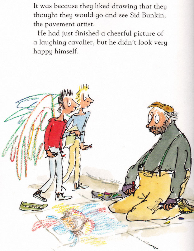 Quentin Blake illustration from ANGEL PAVEMENT 2004