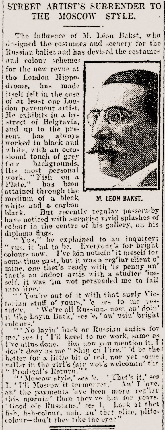 Daily Mail press cutting: Tuesday 2nd December 1913
