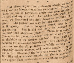 PRESS CUTTING: Manchester Courier and Lancashire General Advertiser; Thursday 3rd July1913