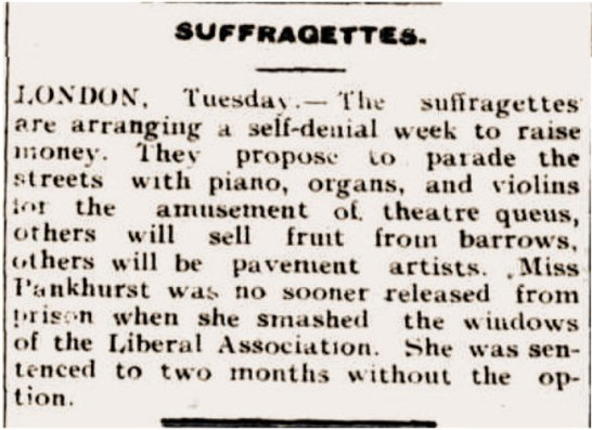 Press Cutting: The Clarence and Richmond Examiner; Thursday 20th February 1913