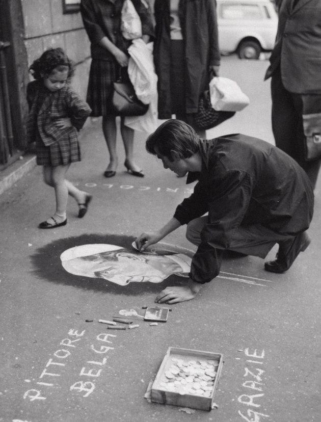 Italian MADONNARI, Rome 1963.