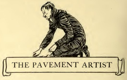 The Pavement Artist: Illustration 1912