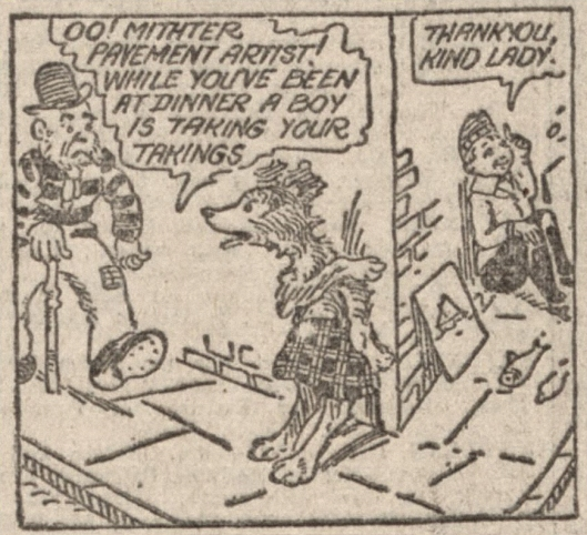 Colin & his Collie cartoon strip 1925