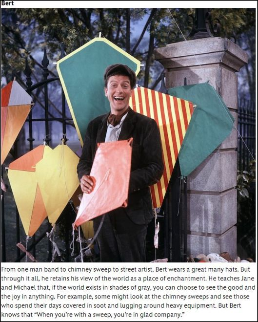 The fictional BERT THE SCREEVER played by Dick Van Dyke 1964