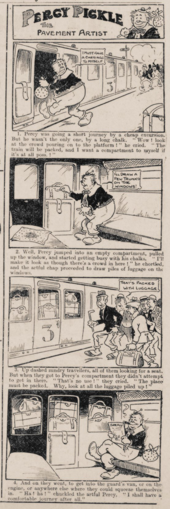 Percy Pickle cartoon strip 1914