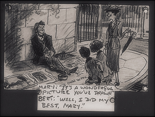 Bert the Screever - MARY POPPINS Storyboard 1963.