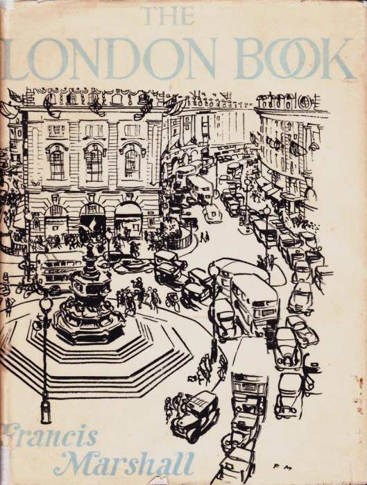 THE LONDON BOOK: cover illustration by Francis Marshall 1951.