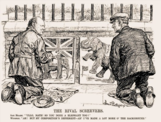 Churchill the Pavement Artist; as featured in Punch Magazine 1933.