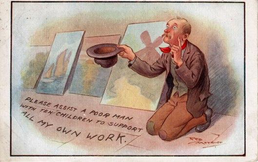 Reg Maurice postcard 1914