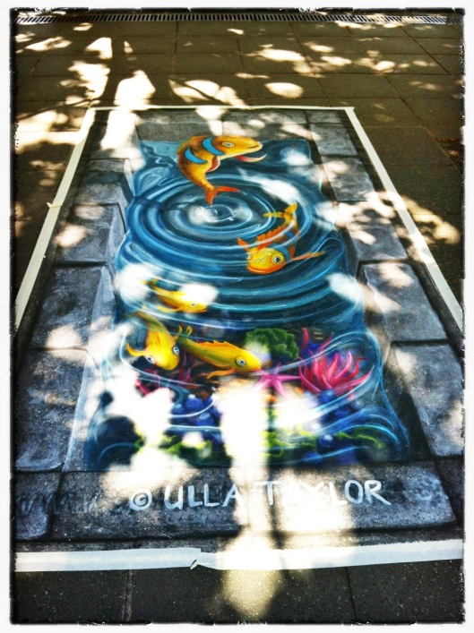 Pavement Art of Ulla Taylor, from Australia's CHALK-CIRCLE 2012